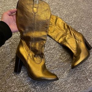 Charles David Made in Italy Metallic Boots